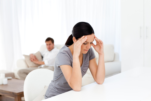 husband and a wife is going through divorce process